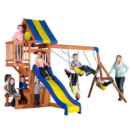 Backyard Discovery™ Peninsula Wooden Swing Set