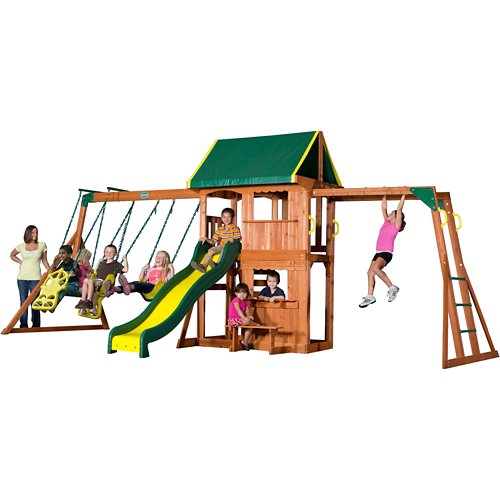 Backyard Discovery™ Prairie Ridge Wooden Swing Set