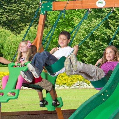 Backyard Discovery Shenandoah Wooden Swing Set Academy