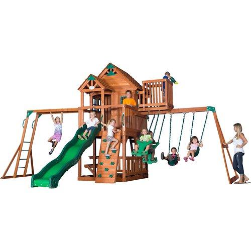 Backyard Discovery™ Skyfort II Wooden Swing Set