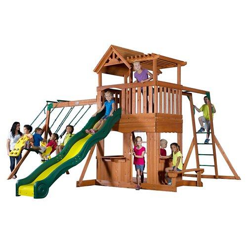 Backyard Discovery™ Thunder Ridge Wooden Swing Set