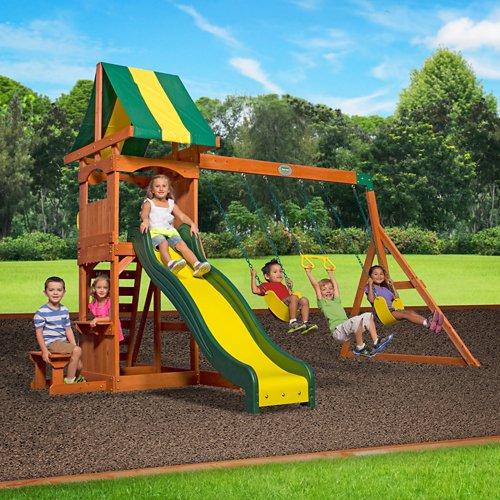 ... Backyard Discovery™ Weston Wooden Swing Set - view number 2 ... - Backyard Discovery™ Weston Wooden Swing Set Academy