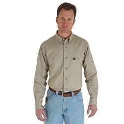 Men's Riggs Workwear Twill Button Down Work Shirt