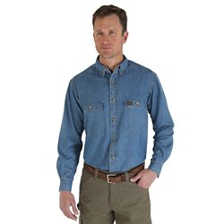Men's Riggs Workwear Denim Button Down Work Shirt