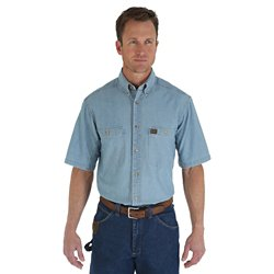 Men's Riggs Workwear Chambray Button Down Work Shirt