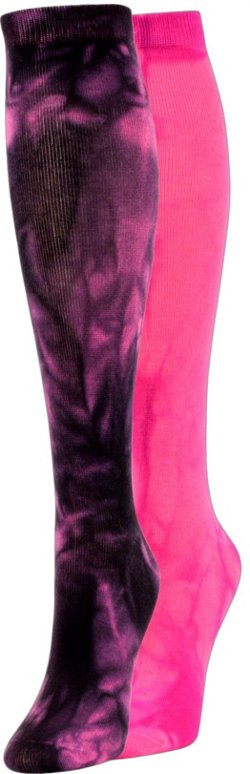 Allsport Team Knee-High Tie-Dye Socks 2 Pack