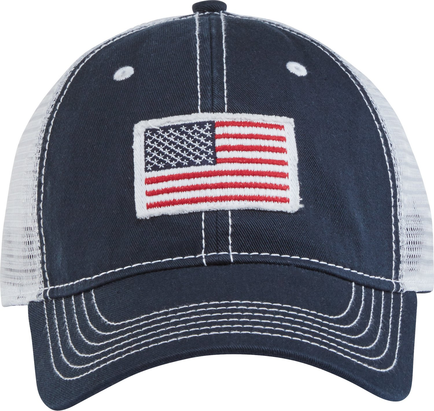 Academy Sports + Outdoors Men s American Flag Trucker Hat  d0388ad6a75