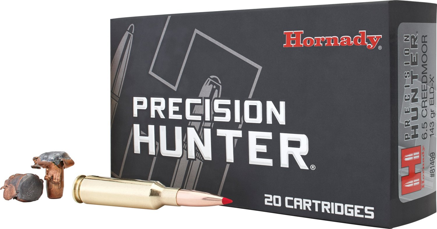 Hornady ELD-X™ Precision Hunter™ 6.5 Creedmoor 143-Grain Rifle Ammunition