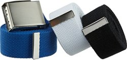 BCG Men's Adjustable Web Belts 3-Pack