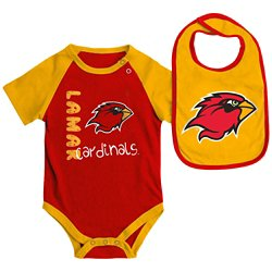 Colosseum Athletics Infants' Lamar University Rookie Onesie and Bib Set