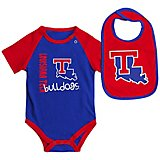 Colosseum Athletics Infants' Louisiana Tech University Rookie Onesie and Bib Set