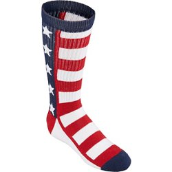 Academy Sports + Outdoors Men's Americana Stars and Stripes Crew Socks