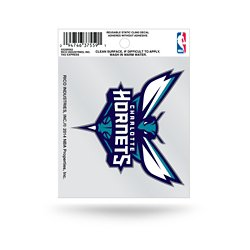 Charlotte Hornets Small Static Cling