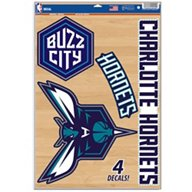 WinCraft Charlotte Hornets Multiuse Decals 4-Pack