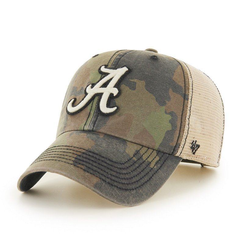 '47 Men's University of Alabama Burnett Clean Up Cap Frontline Green Camo - NCAA Men's Caps at Academy Sports thumbnail