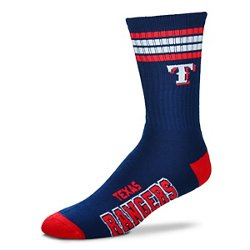 For Bare Feet Adults' Texas Rangers 4-Stripe Deuce Socks