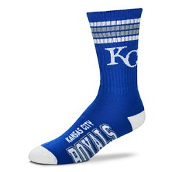 For Bare Feet Adults' Kansas City Royals 4-Stripe Deuce Socks