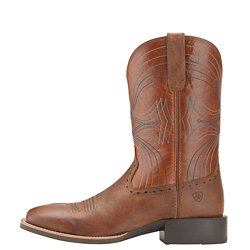 Men's Sport Wide Square Toe Western Boots