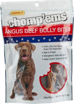 Ruffin' It Chomp'ems™ Angus Beef Bully Bites Dog Treats