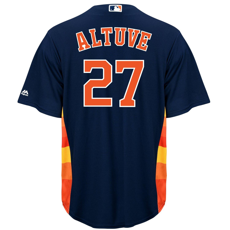 online store 43c9e 39594 Majestic Men's Houston Astros José Altuve #27 Replica Jersey
