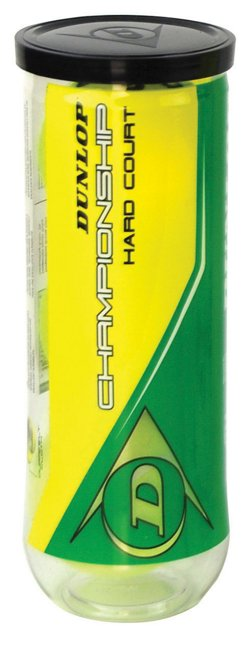 Dunlop Championship Hard Court Tennis Balls 12-Pack (3 balls per can/ 36 balls in total)