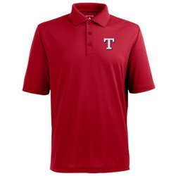 Antigua Men's Texas Rangers Piqué Xtra-Lite Polo Shirt
