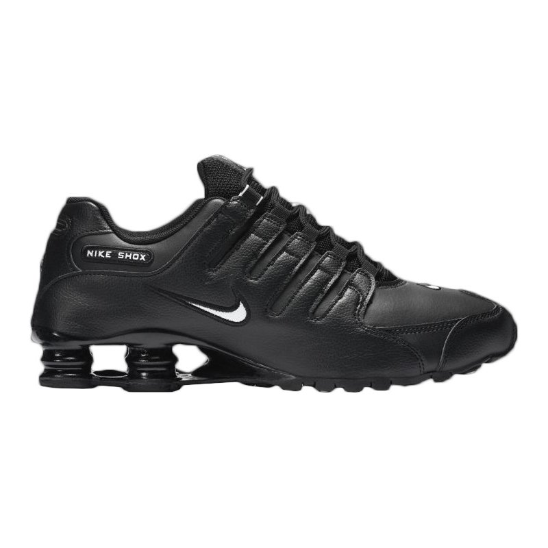 sports shoes 0696b 303df ... Nike Men s Shox NZ Running Shoes (Black White, Size 10) - Men ...