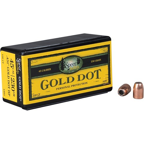 Speer® Gold Dot .45 Auto 230-Grain Hollow-Point Bullets