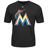 Majestic Men's Miami Marlins Synthetic Official Logo T-shirt