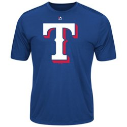 Men's Texas Rangers Synthetic Official Logo T-shirt