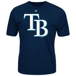Majestic Men's Tampa Bay Rays Synthetic Official Logo T-shirt