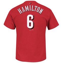 Majestic Men's Cincinnati Reds Billy Hamilton #6 T-shirt