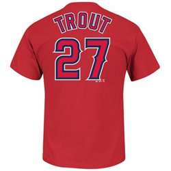 Majestic Men's Los Angeles Angels Mike Trout #27 T-shirt