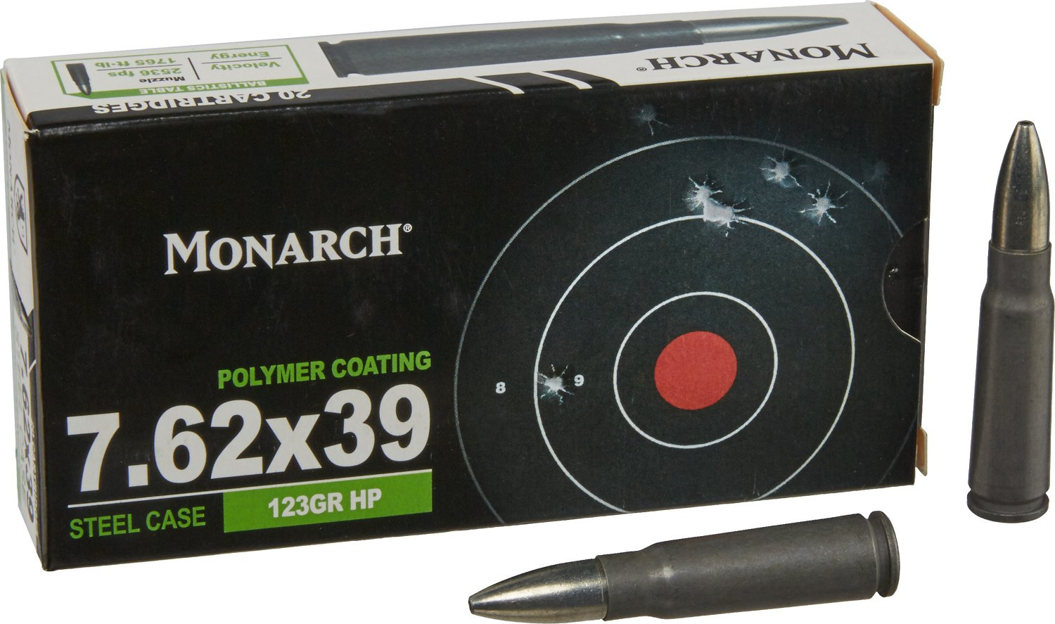 Monarch 7.62 x 39 123-Grain HP Rifle Ammunition