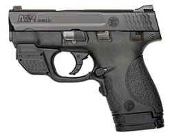 Smith & Wesson M&P® 9 Shield™ 9mm Handgun with Crimson Trace® Green Laserguard®