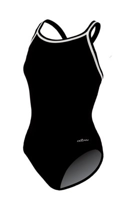 Women's DBX Back Solid 1-Piece Swimsuit