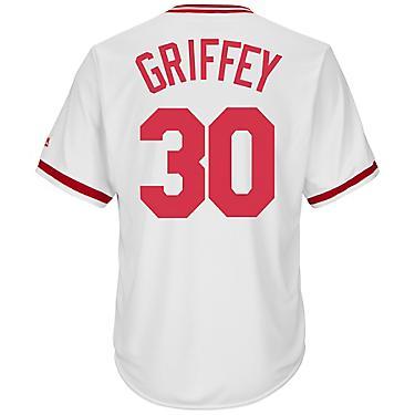 info for 39e68 dfc01 Majestic Men's Cincinnati Reds Ken Griffey #30 Cooperstown Cool Base 1978  Replica Jersey