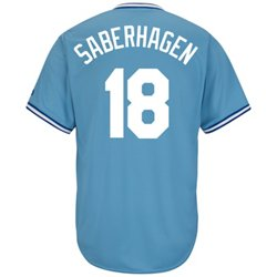Men's Kansas City Royals Bret Saberhagen #18 Cooperstown Cool Base Replica Jersey