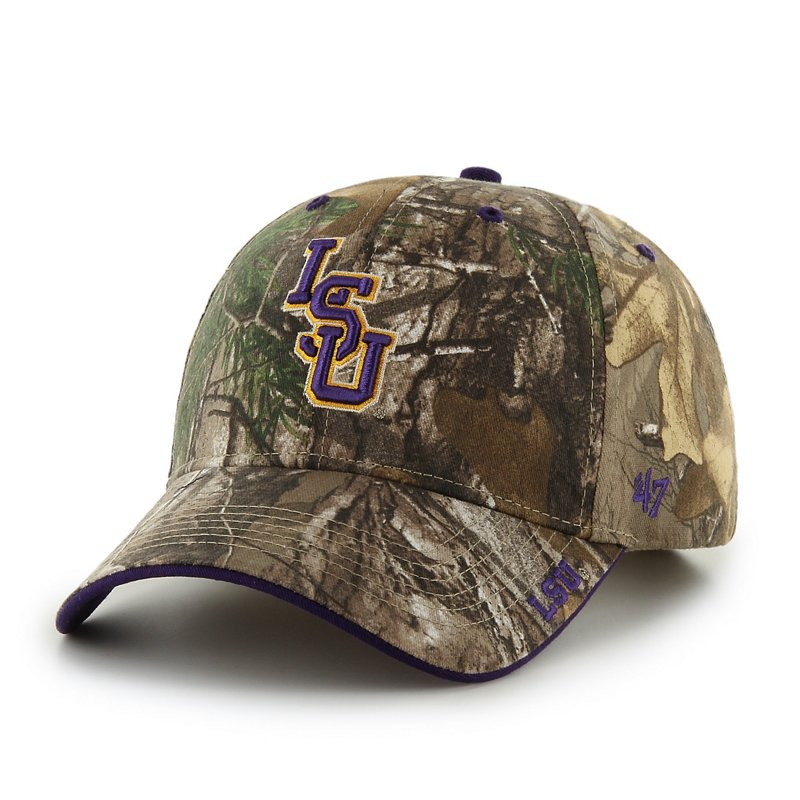'47 Men's Louisiana State University Realtree Frost Cap (Dark Green, Size One Size) – NCAA Licensed Product, NCAA Men's Caps at Academy Sports