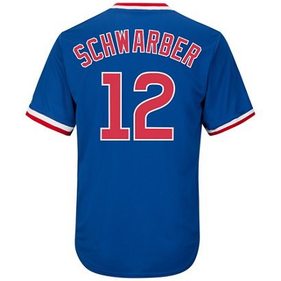 75257a0c6 ... Majestic Men s Chicago Cubs Kyle Schwarber  12 Cooperstown Replica  Jersey. Chicago Cubs. Hover Click to enlarge