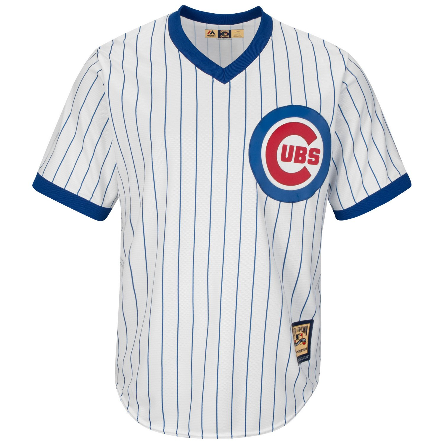 buy popular 6b285 cb5dd Majestic Men's Chicago Cubs Cooperstown Cool Base 1968-69 Replica Jersey