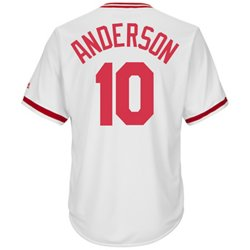 Majestic Men's Cincinnati Reds Sparky Anderson #10 Cooperstown Cool Base 1978 Replica Jersey