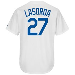 Majestic Men's Los Angeles Dodgers Tommy Lasorda #27 Cooperstown Cool Base 1941-57 Replica Jersey