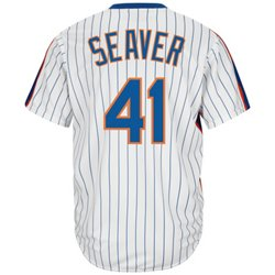 Majestic Men's New York Mets Tom Seaver #41 Cooperstown Cool Base 1986 Replica Jersey