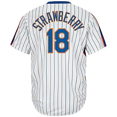 competitive price cb516 7d242 Majestic Men's New York Mets Darryl Strawberry #18 Cooperstown Cool Base  1986 Replica Jersey
