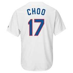 Men's Texas Rangers Shin-Soo Choo #17 Cooperstown Cool Base Replica Jersey