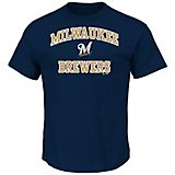 1648c1411 Majestic Men s Milwaukee Brewers Heart and Soul T-shirt