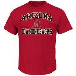 Majestic Men's Arizona Diamondbacks Heart and Soul T-shirt