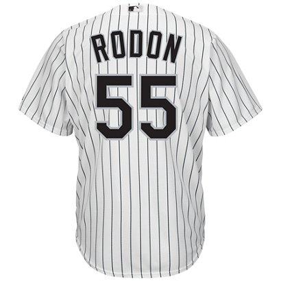 6f6407624 Majestic Men s Chicago White Sox Carlos Rodon  55 Cool Base Replica ...