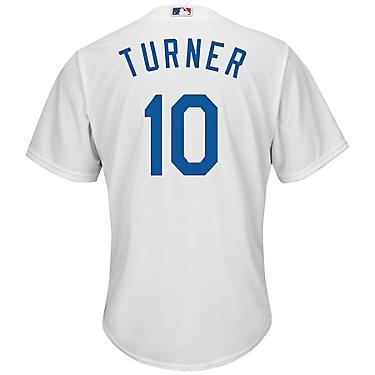 new styles 0dc3b 95674 Majestic Men's Los Angeles Dodgers Justin Turner #10 Cool Base Replica  Jersey